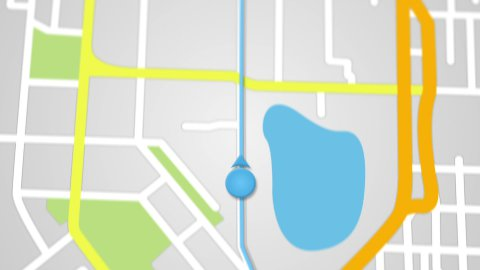 city map GPS navigation seamless loop - stock footage