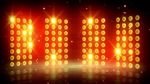 yellow stage lights loopable background - stock footage