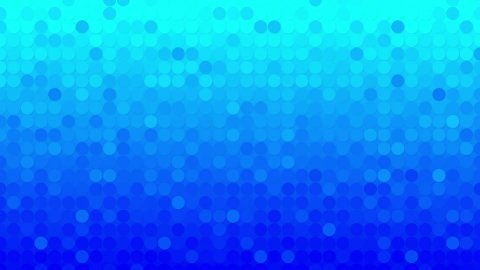 abstract blue circles mosaic loopable background - stock footage