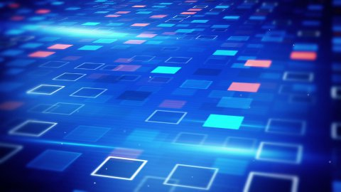 beaming blue squares loopable techno background - stock footage