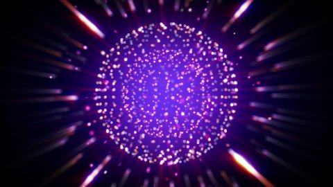sparkling shiny ball seamless loop background - stock footage