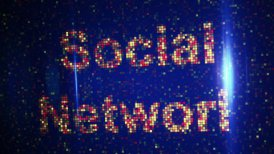 social network words loopable animation - motion graphic