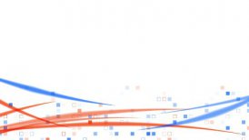 blue orange squares and lines loopable background - motion graphic