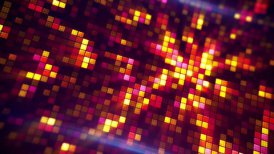 glowing pixels abstract loopable background - motion graphic