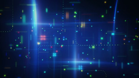 abstract information techno loopable animation - stock footage