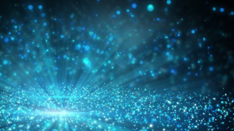 field of sparkling shiny particles loop - stock footage