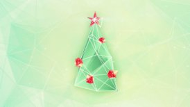 christmas tree triangles shape loop - motion graphic