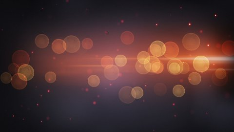 light stripe and circle bokeh techno loopable background - stock footage