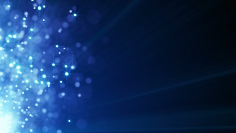 flying blue particles seamless loop background - stock footage