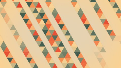 triangles abstract geometric loopable background - stock footage