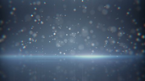 flying particles and reflection loop background - stock footage