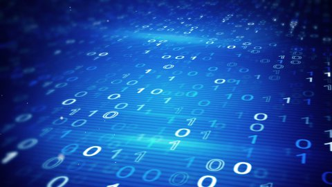 digital binary data loopable background - stock footage