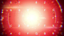 red abstract techno loopable background - motion graphic