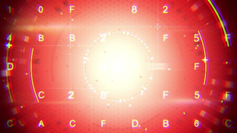 red abstract techno loopable background - stock footage