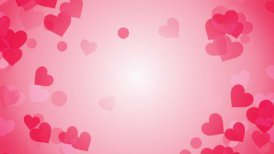 heart shapes on bright background loop - motion graphic