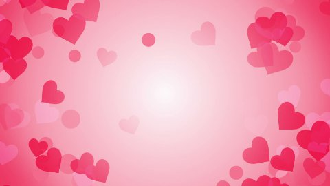 heart shapes on bright background loop - stock footage