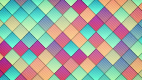 geometric pattern of colorful squares loop - stock footage