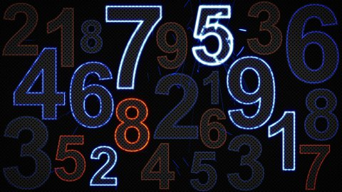 glowing numbers loopable background - stock footage