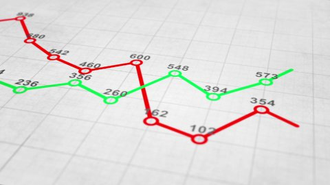 graph chart seamless loop animation - stock footage
