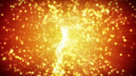 springing gold particles loopable background