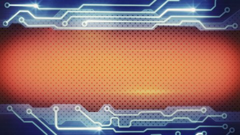 blue orange techno plate loopable background - stock footage