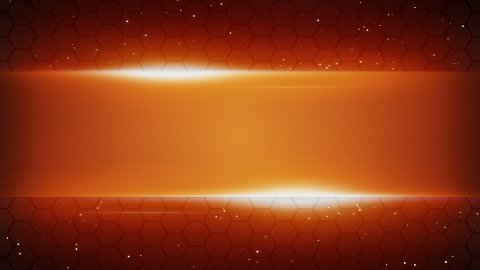 orange futuristic title plate loopable background - stock footage