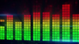 digital audio meter equalizer loopable background - motion graphic