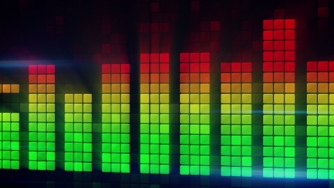 digital audio meter equalizer loopable background - stock footage