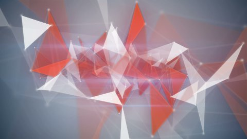 orange network structures flying loopable background - stock footage