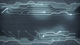 grey circuit board loopable background - motion graphic