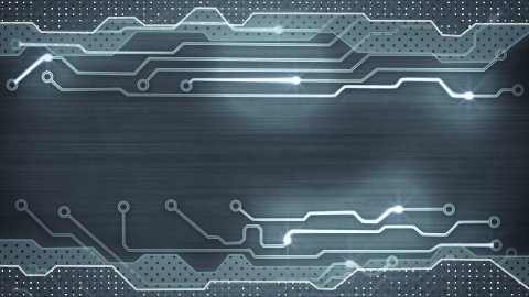 grey circuit board loopable background - stock footage