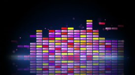 digital colorful equalizer with reflection loop - motion graphic