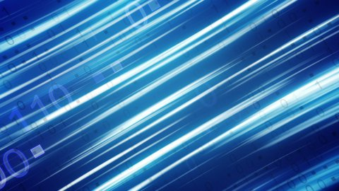 blue binary stripes loopable background - stock footage