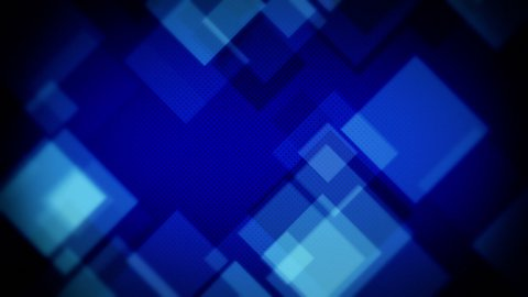 moving blue squares loopable background - stock footage