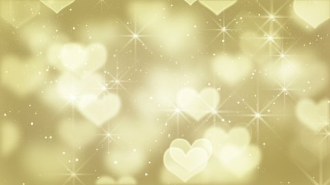 gold heart shapes loop background - stock footage