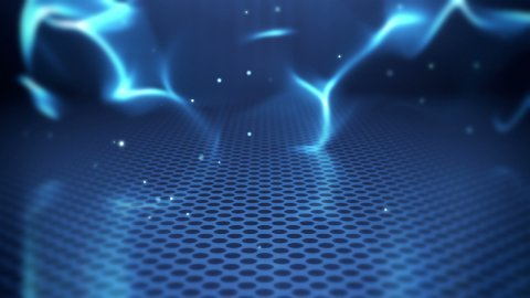 blue futuristic wave abstract loopable background - stock footage