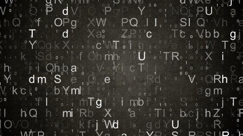numbers and letters data loopable background - stock footage