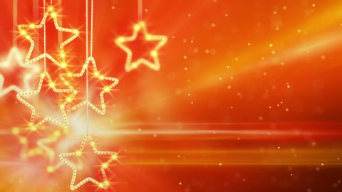 orange hanging stars loop background - stock footage