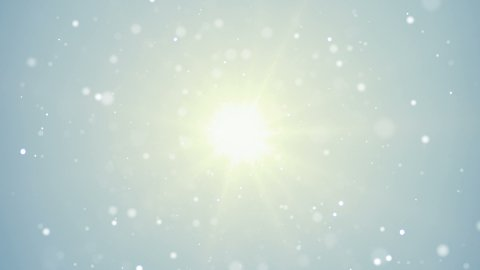 bright light and flying particles loop background - stock footage