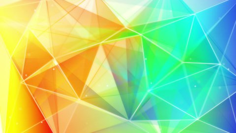 colorful triangles abstract geometrical background loop - stock footage