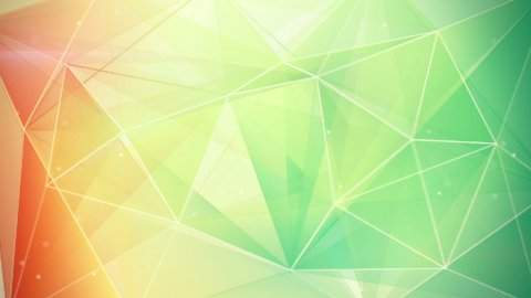 abstract triangle geometrical green orange background loop - stock footage