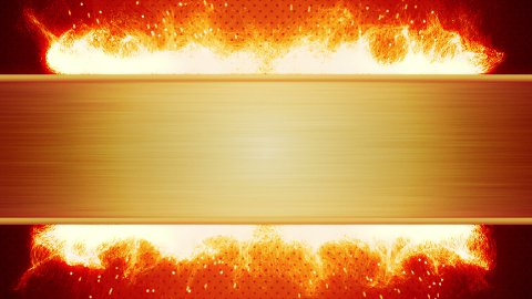 blank plate and flaming fire loop - stock footage