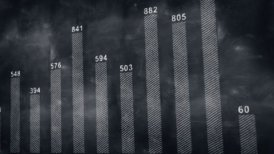 graph chart on blackboard loopable - motion graphic