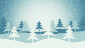 christmas winter scene loopable animation