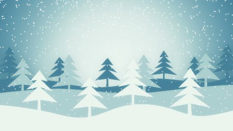 christmas winter scene loopable animation - stock footage