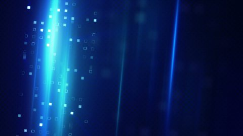 blue squares and light stripes techno background - stock footage