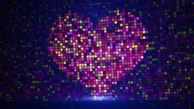 scan heart shape on digital screen loop - motion graphic