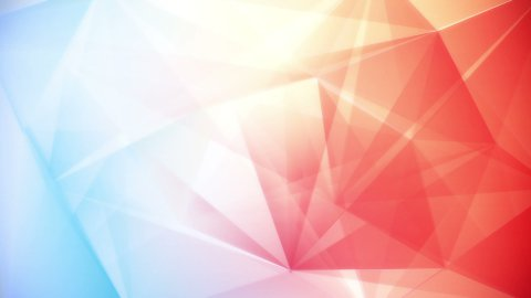 abstract triangle geometrical blue red background loop - stock footage