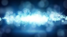 blue circle bokeh lights loop background - motion graphic