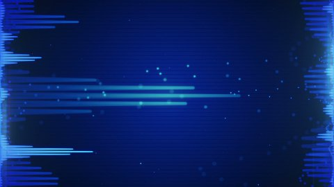 blue audio waveform loopable background - stock footage